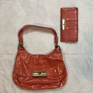 Coach  Coral purse and wallet set